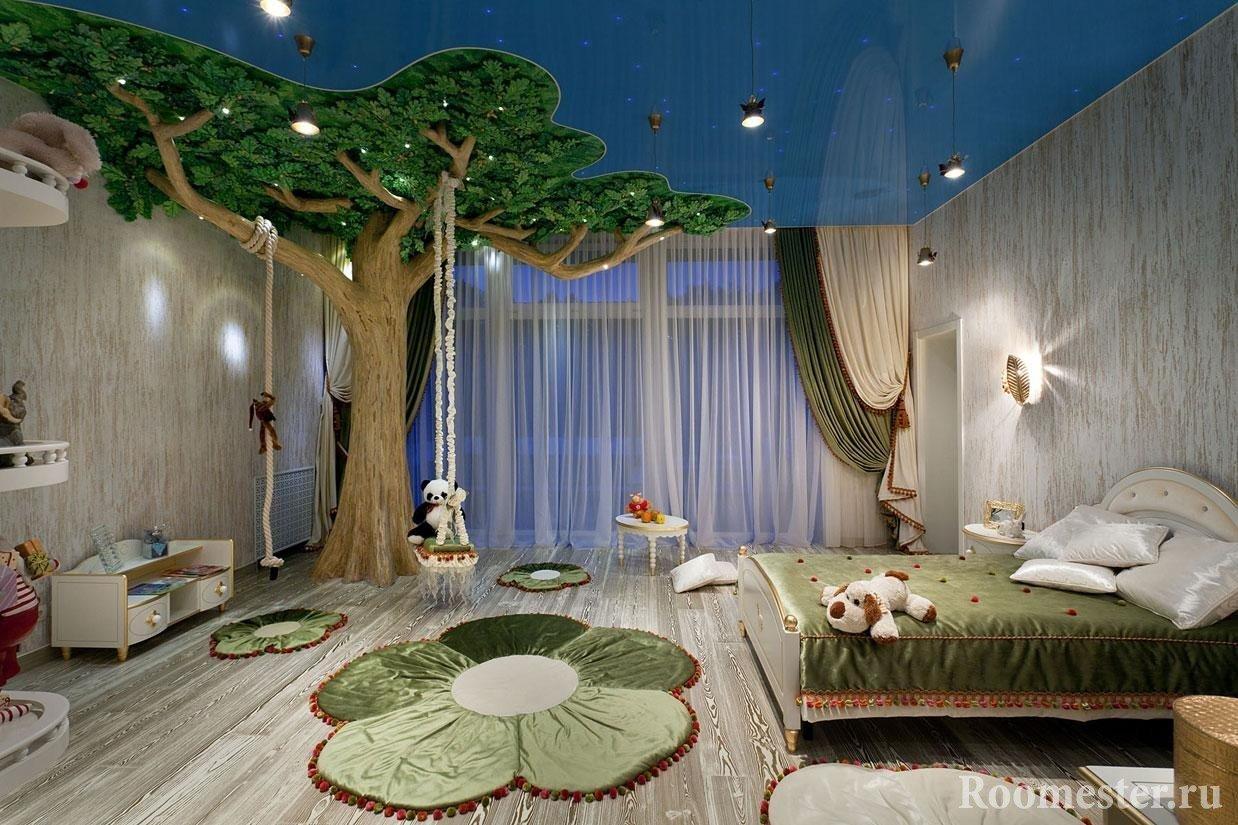 Дерево в оформлении детской комнаты