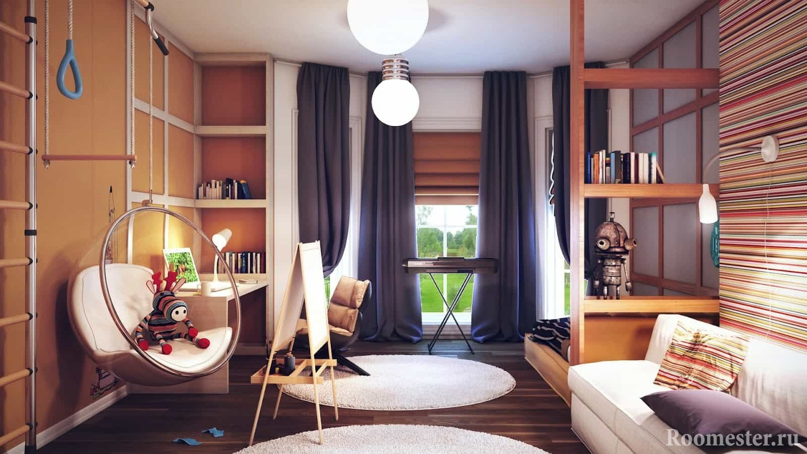 дизайн детской комнаты для мальчика идеи интерьера 50 фото