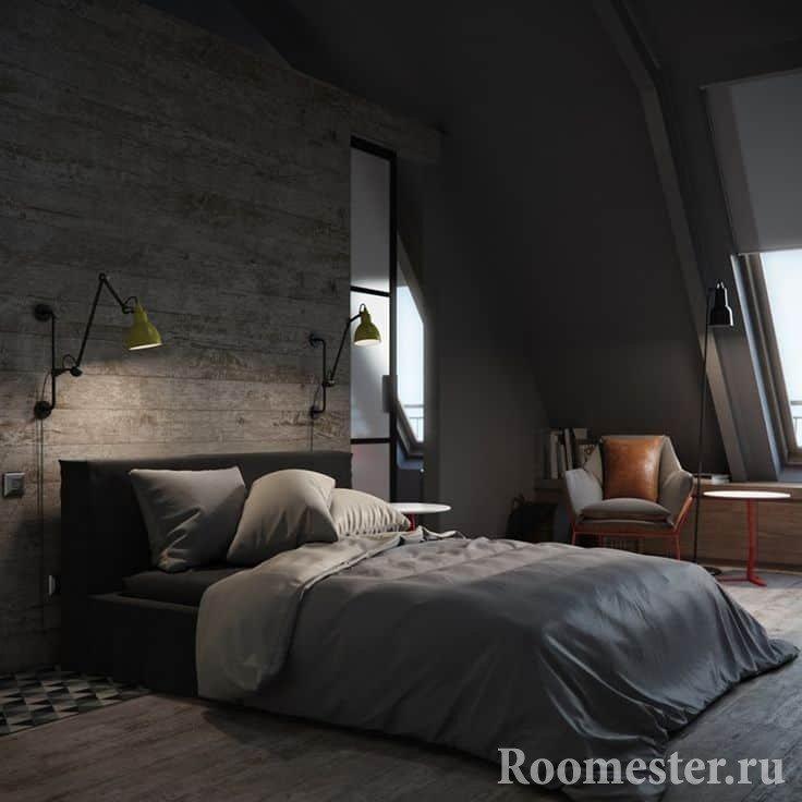 Brutal room design for men