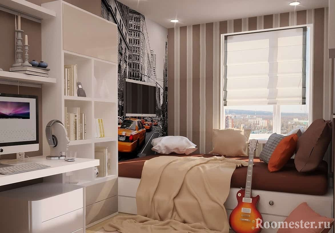 Design a small room of a young man