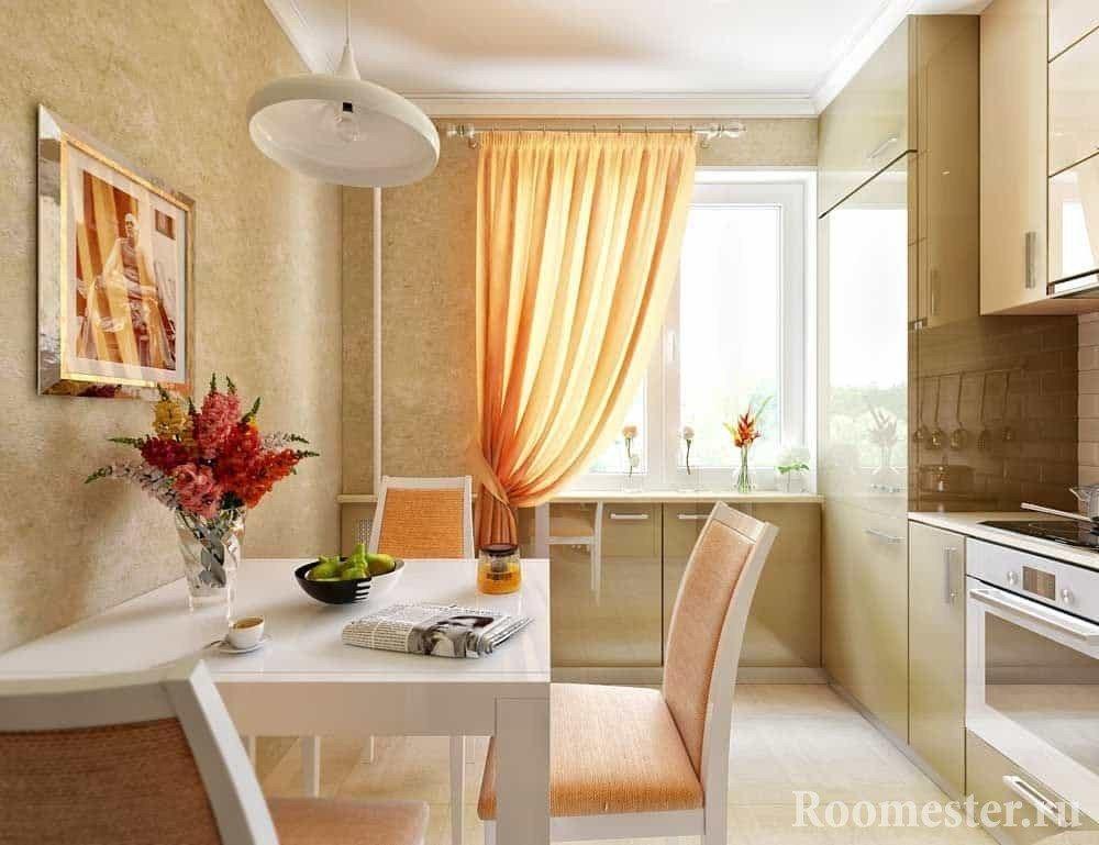 Кухня у стены