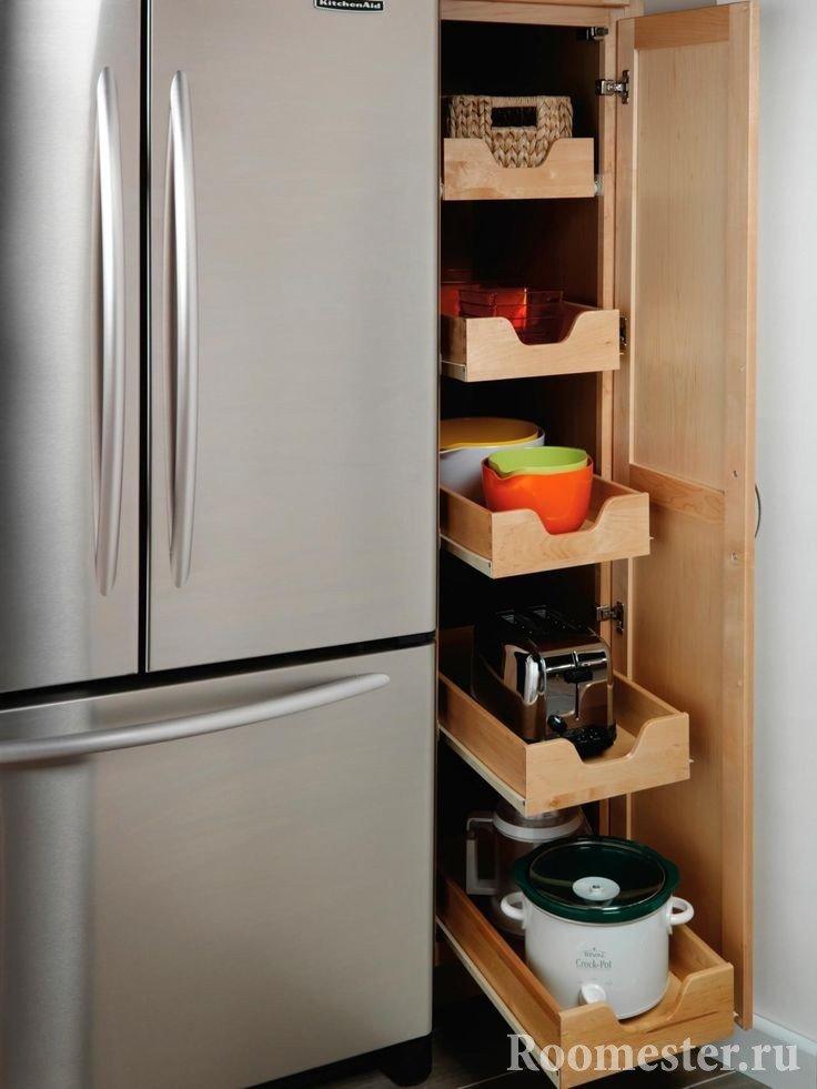 Вместительный ящик для посуды