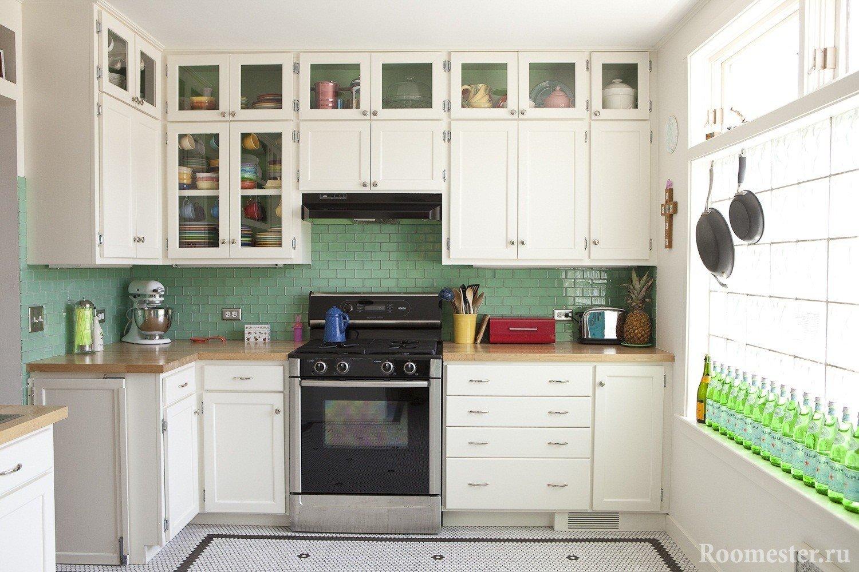 Большое окно в кухне