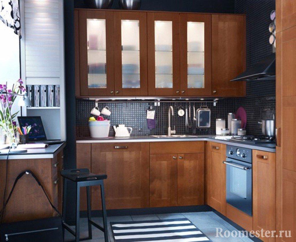 Кухня с кабинетом