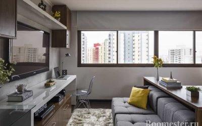 Дизайн однокомнатной квартиры 30 кв. м — фото интерьера