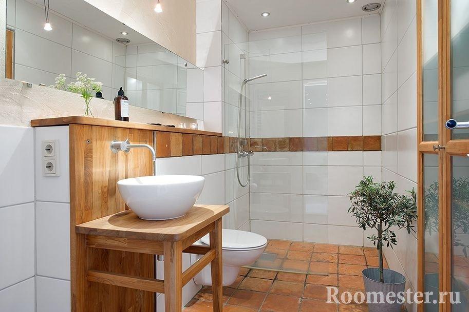 Совмещенный туалет с душевой кабиной