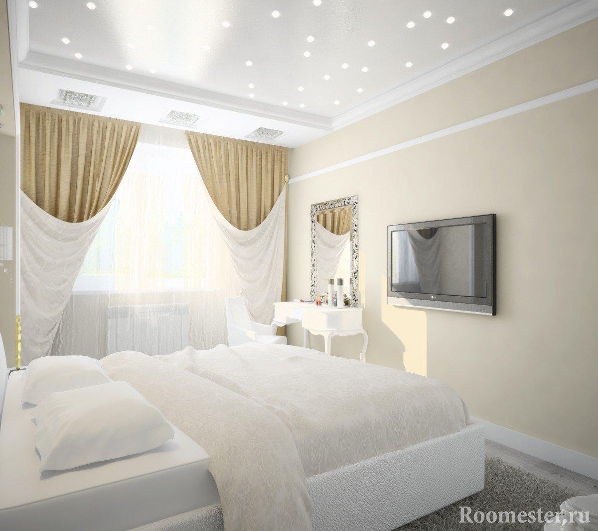 Дизайн-проект спальни 12 кв м