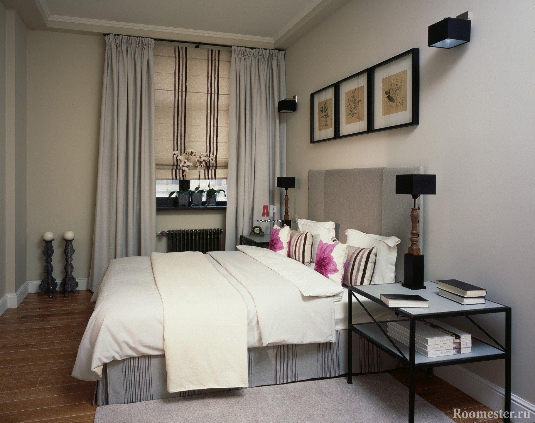 Элементы декора для небольшой спальни