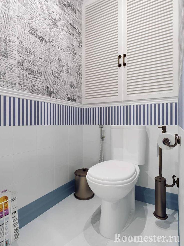 Бойлер в туалете можно спрятать за дверцы