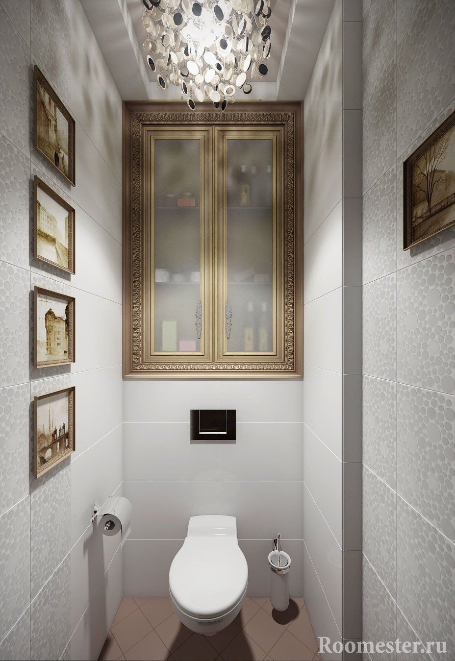 Шкаф в стене в туалете