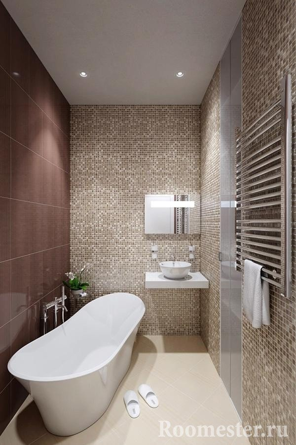 Bathroom in shades of brown