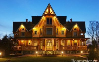 Интерьер бревенчатого дома — 30 фото дизайна внутри