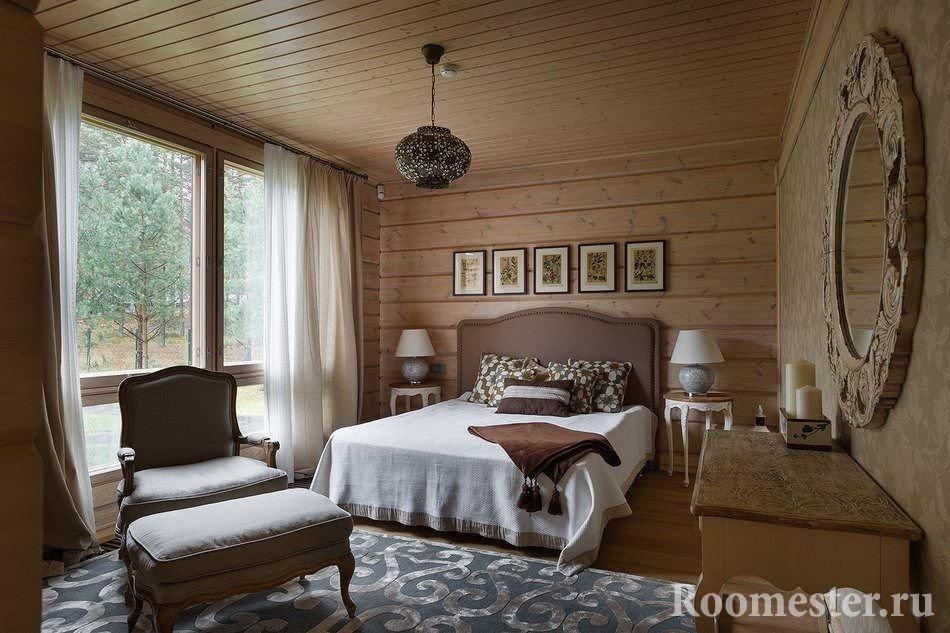 Спальня с панормамным окном
