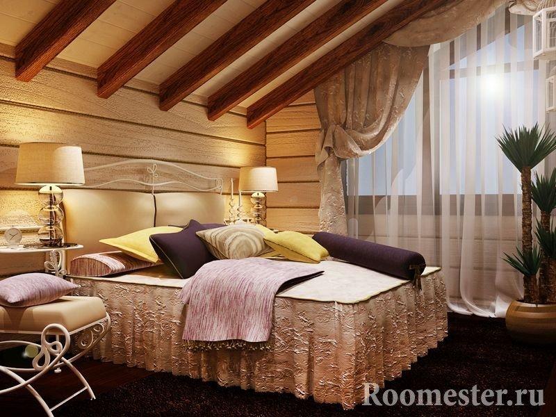 Спальня на монсардном этаже