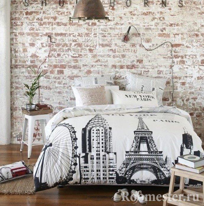 Стиль модерн в спальне