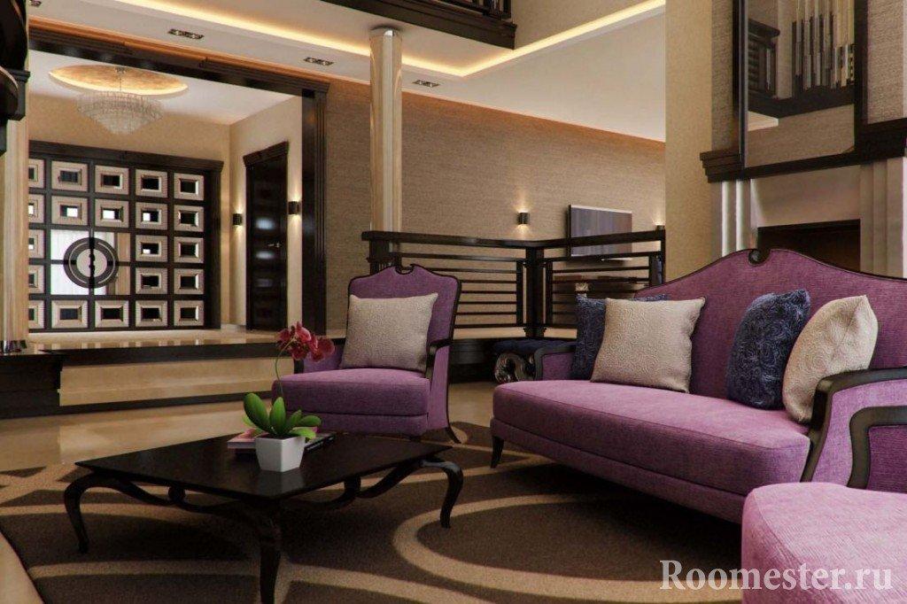 Фиолетовый мебельный гарнитур