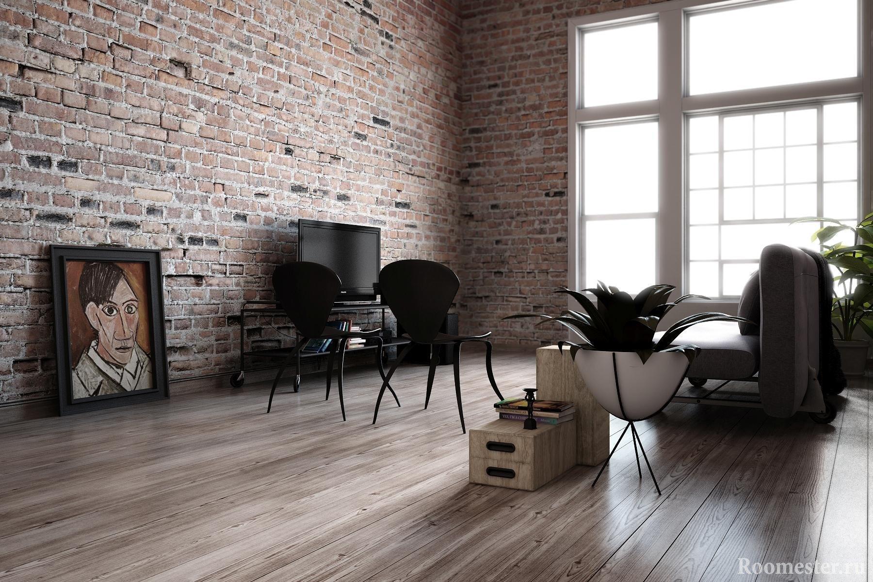 Гостиная без лишней мебели