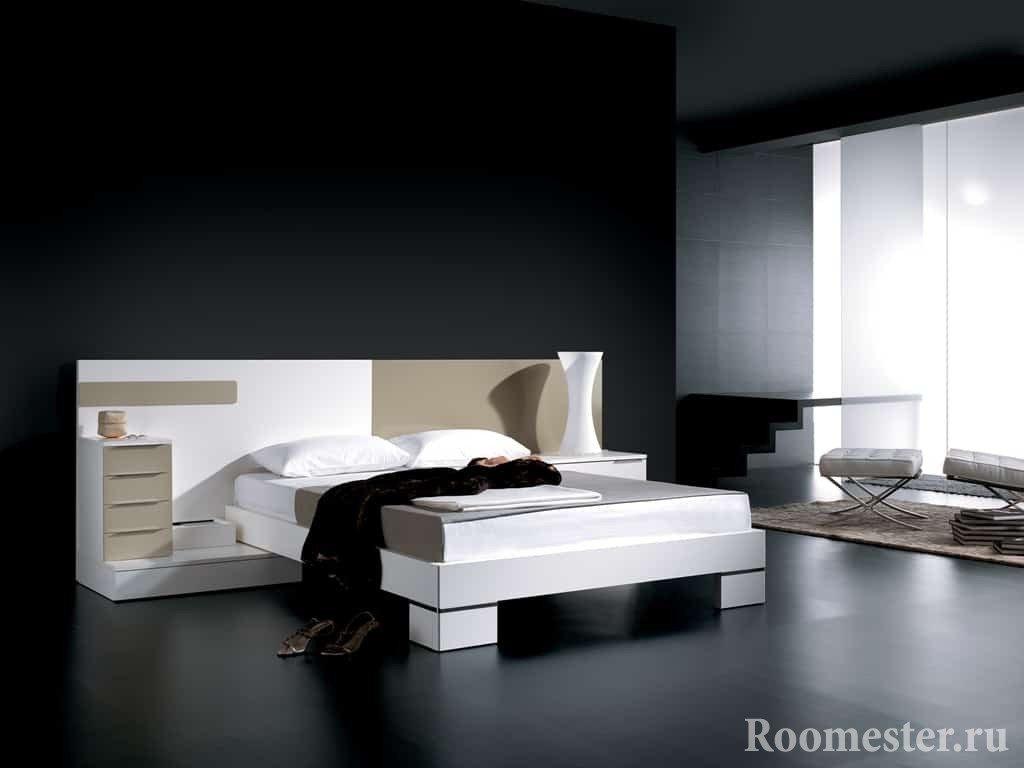 Двухцветная кровать