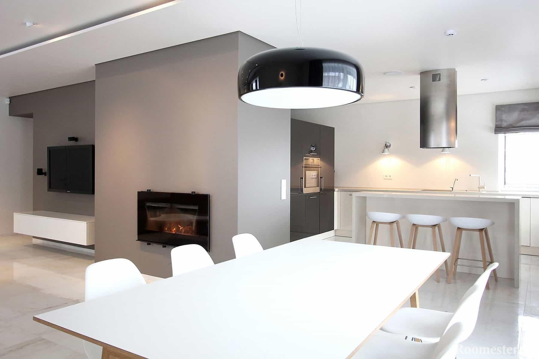Кухня-столовая минимализм