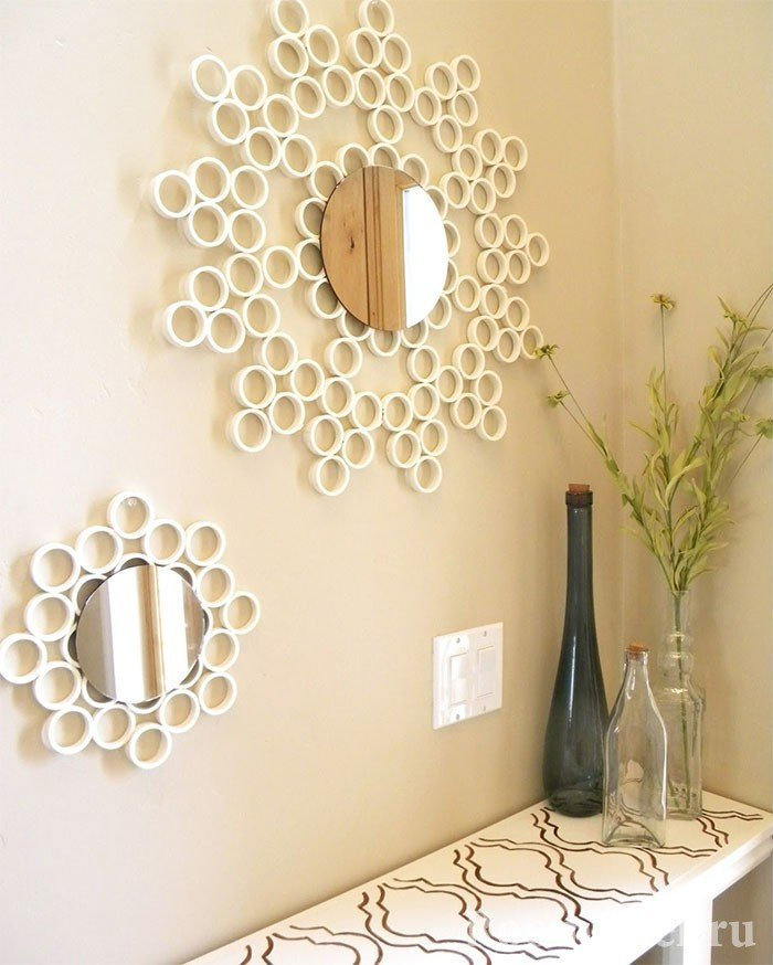 Frame for the mirror of plastic rings
