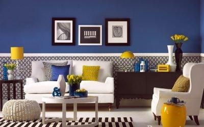 Синий цвет в интерьере и его сочетания