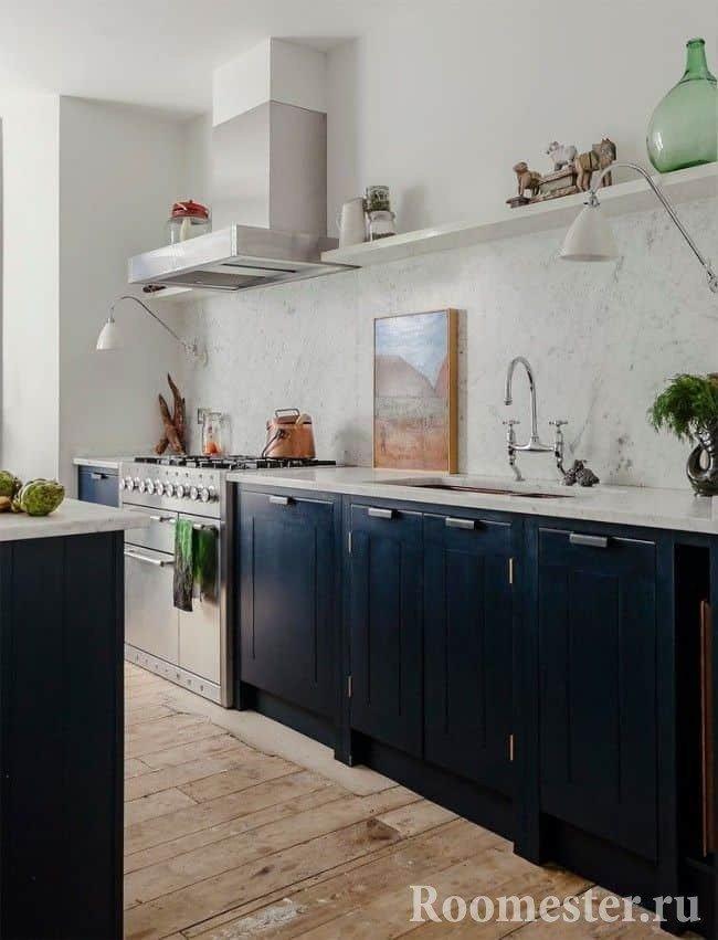 Проект черно-белой кухни