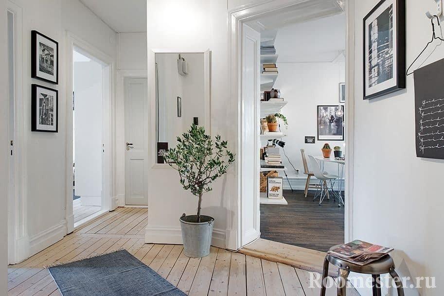 Дизайн квадратной прихожей в скандинавском стиле