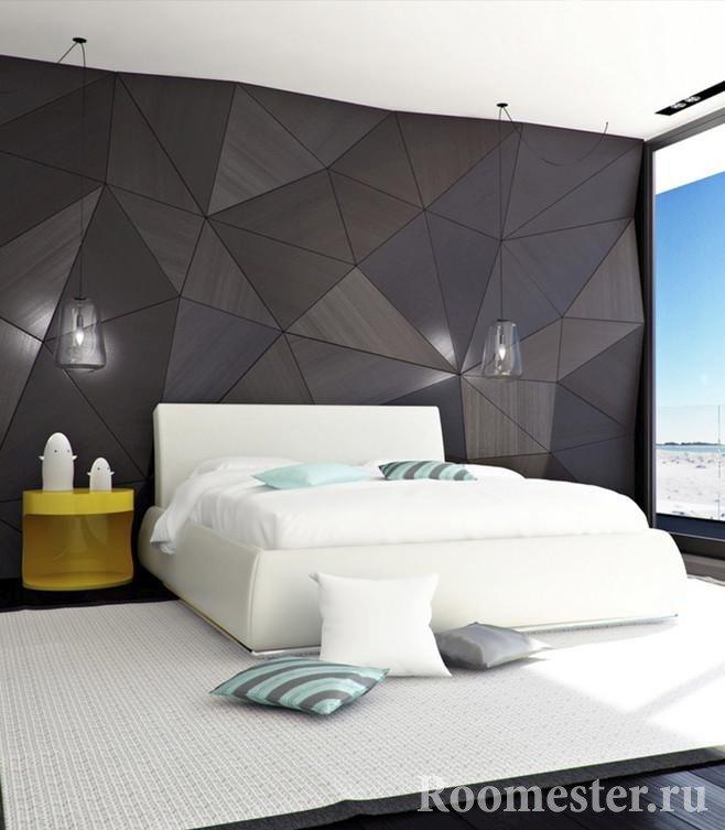 Спальня с белой кроватью