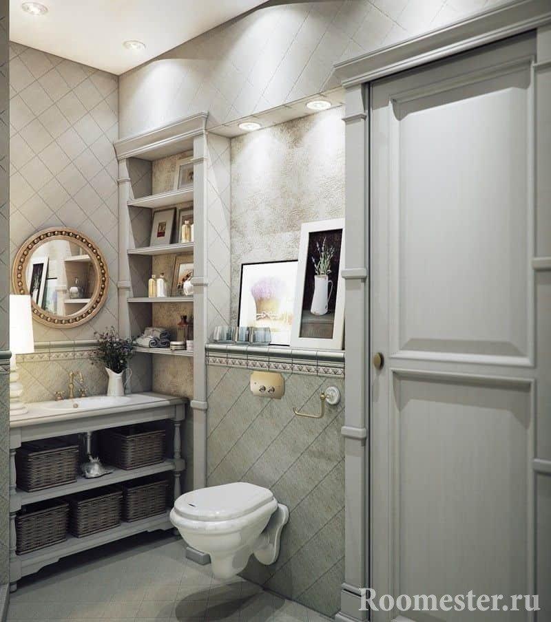 Современный туалет в стиле прованс