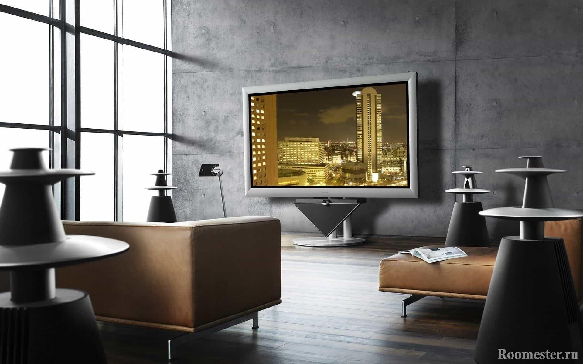 Стильная подставка под телевизор