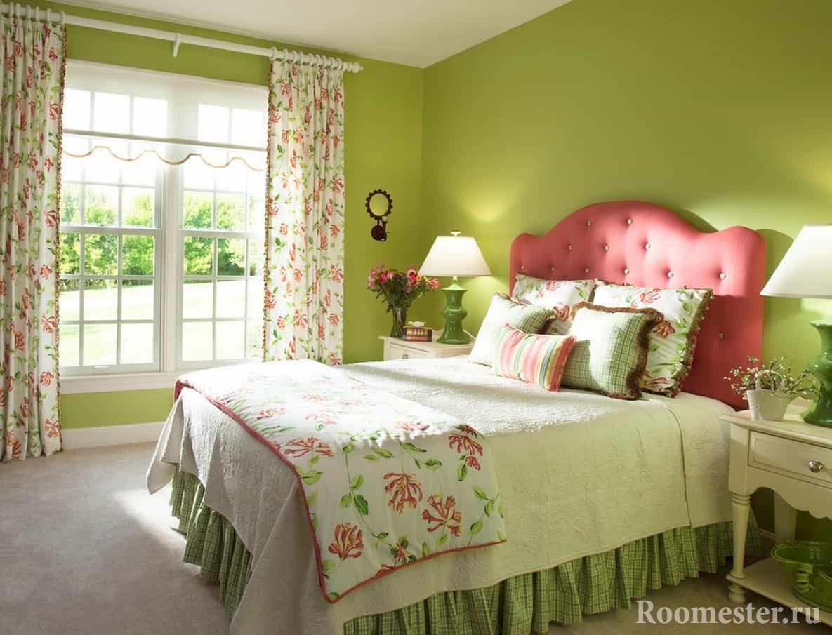 Розовый и зеленый сочетание