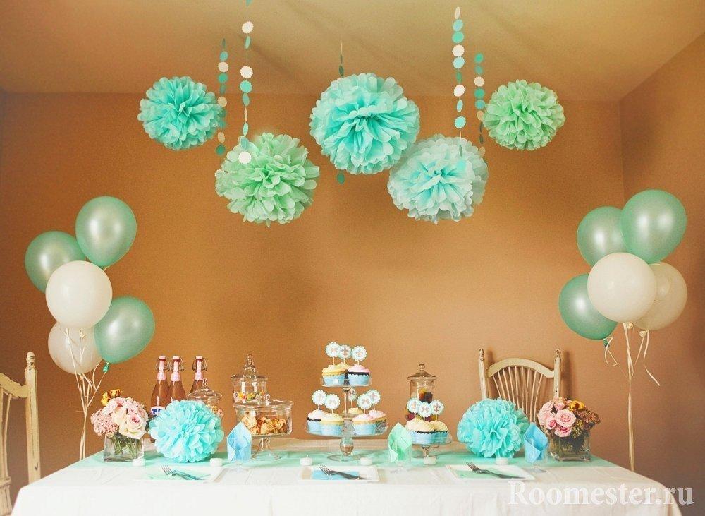 Композиция на праздничный стол в день рожденья