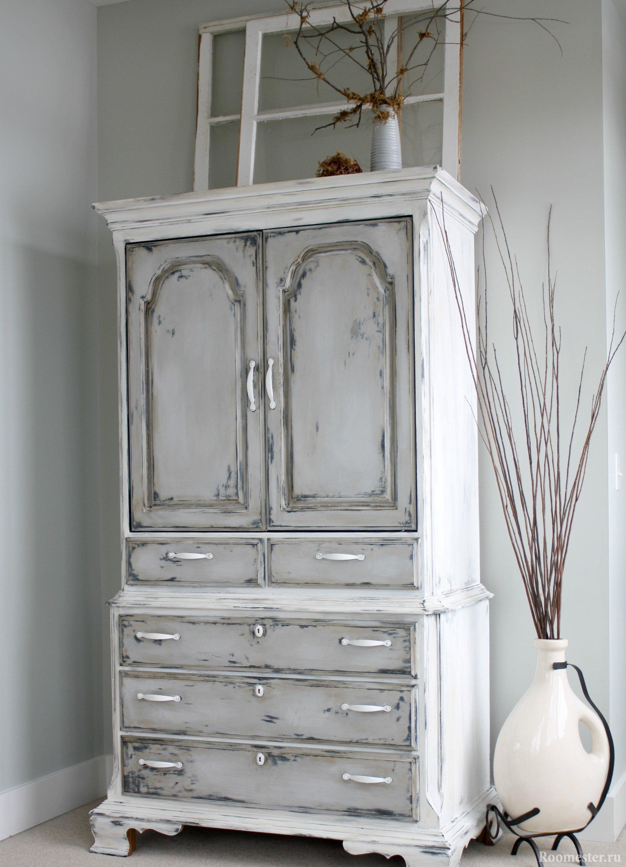 Покраска шкафа под старину