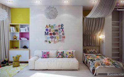Дизайн детской комнаты +100 фото интерьера