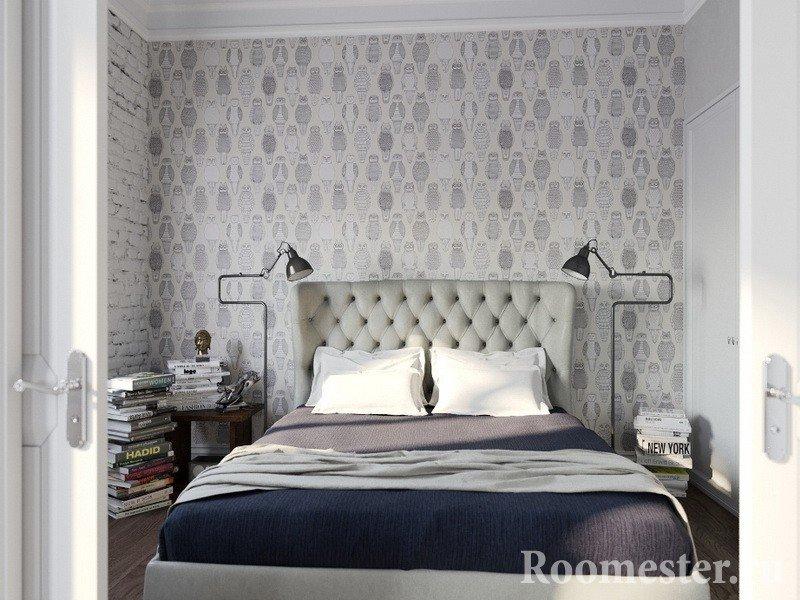 Светлая спальная комната