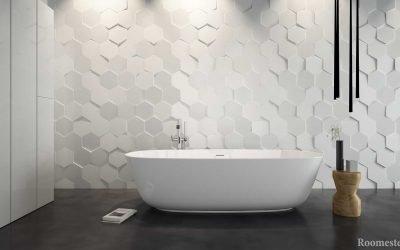 Дизайн плитки в ванной комнате — 50 современных примеров