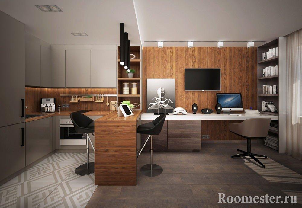 Уютная студия с рабочим местом