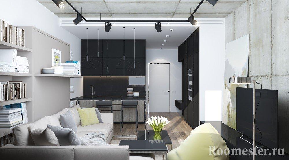 Квартира-студия в стиле лофт на 25 кв м