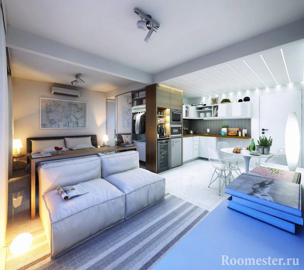 Студия с полноценным спальным местом