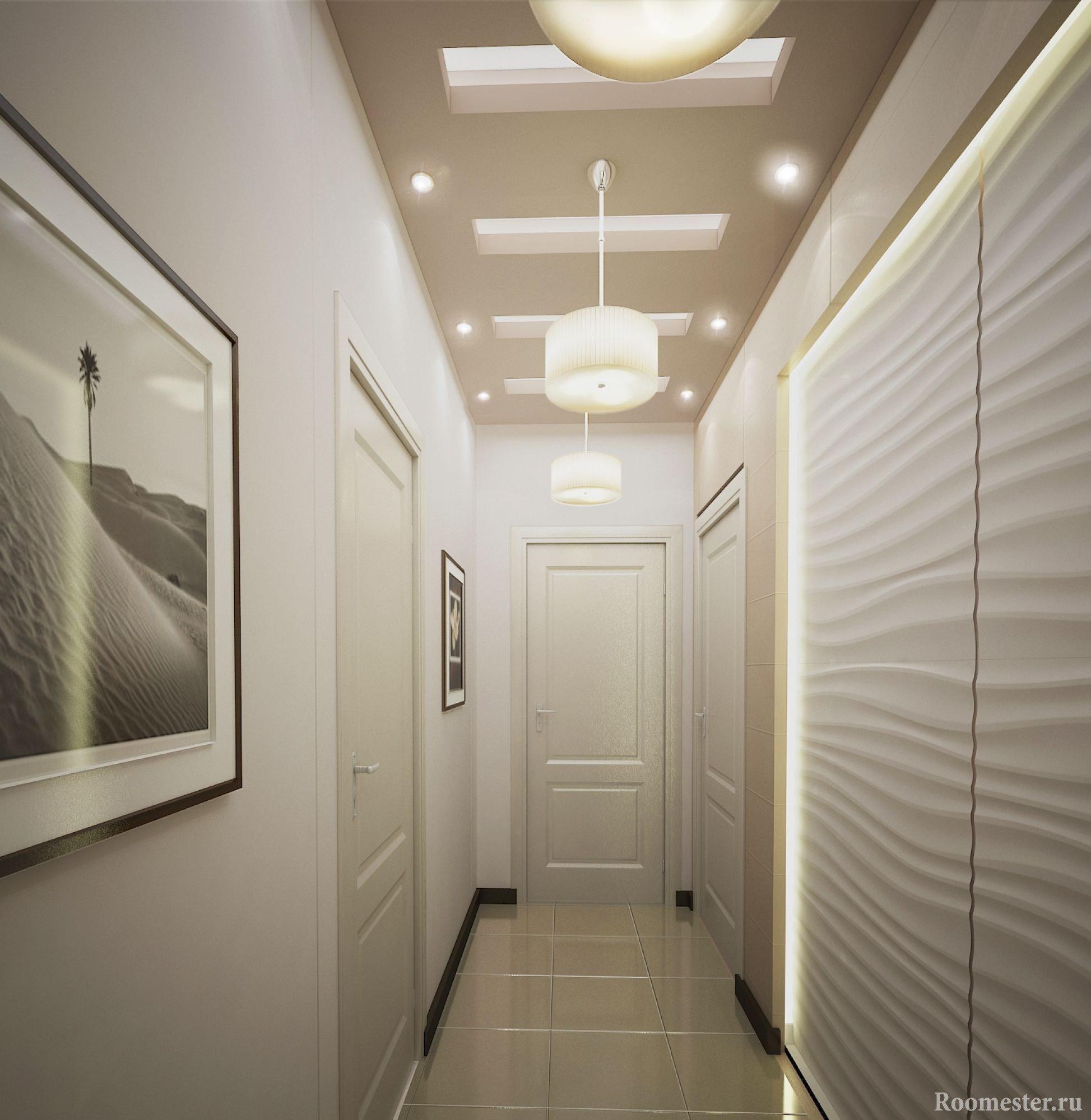 Дизайн-проект длинного и узкого коридора