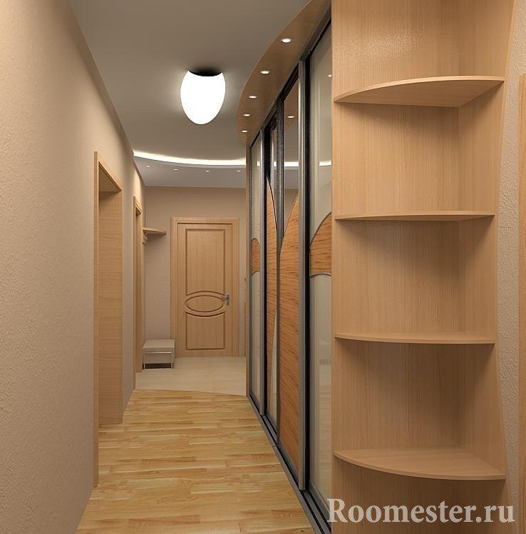 Шкаф-купе в длинном коридоре