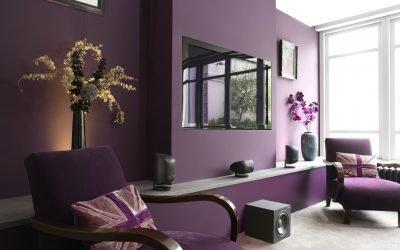 Фиолетовый цвет в интерьере и его сочетания