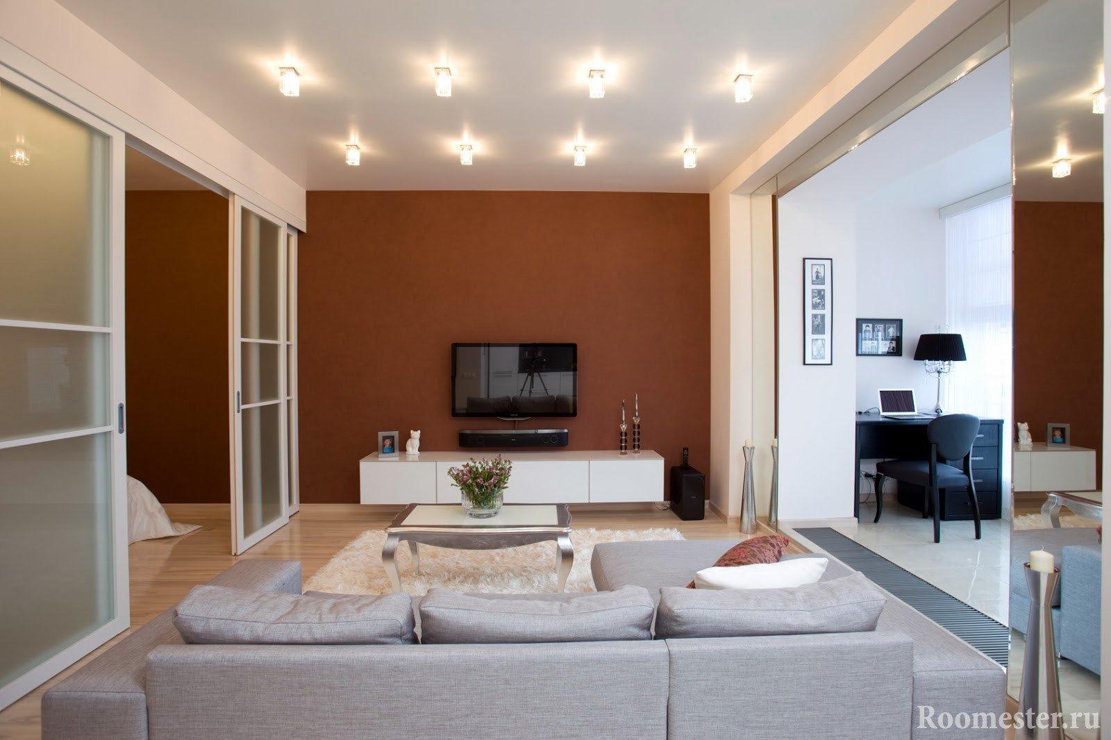 Однокомнатная квартира с перегородками