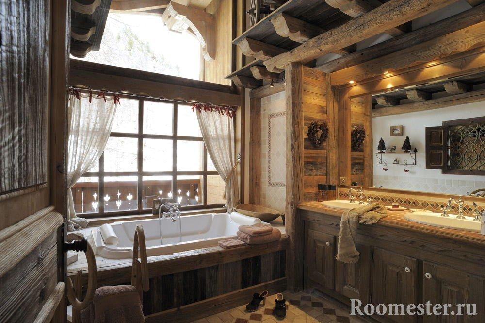 Альпийский стиль в ванной