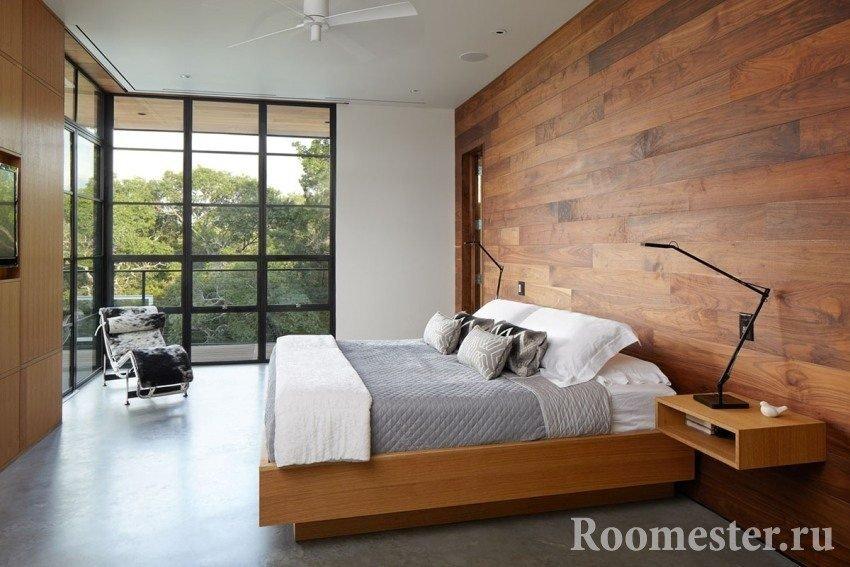 Спальня с угловым окном