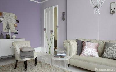 Сиреневый цвет и его сочетания в интерьере — 25 фото идей