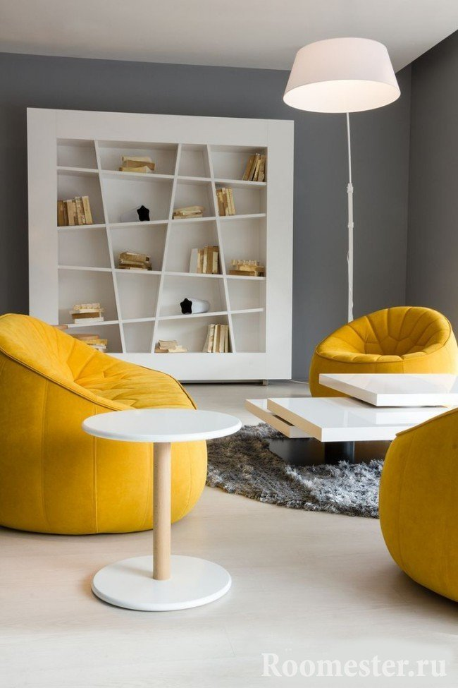 Yellow and gray in combination