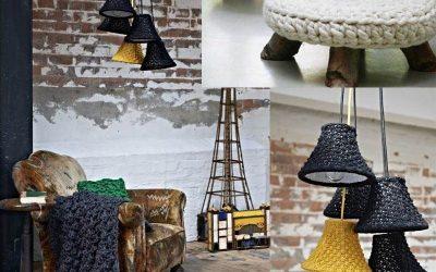 Вязание для дома и интерьера — 30 фото примеров