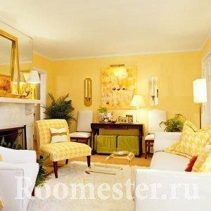 Гостиная в желтых цветах