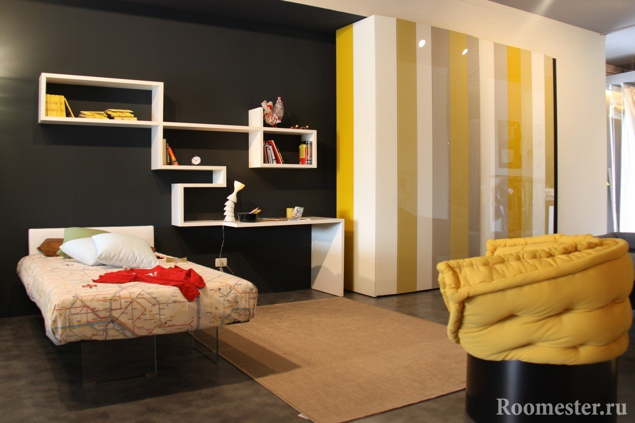 The combination of black and yellow